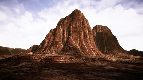 4K Eroded Natural Formations in Rocky Desert Cinematic 3D Animation Animation