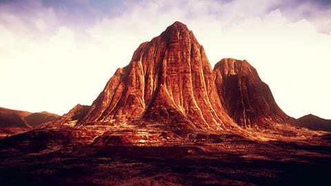4K Eroded Rock Formations in Desert Landscape Cinematic 3D Animation Animation