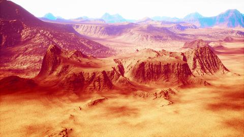 4K Eroded Rocky Desert Landscape Cinematic 3D Animation Animation