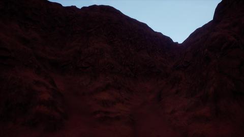 4K Eroded Rocky Terrain Desert Landscape Cinematic 3D Animation Animation