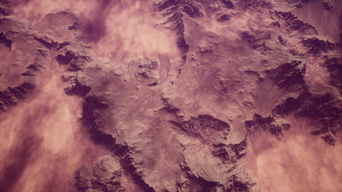 4K High Altitude Aerial View of Arid Terrain Cinematic 3D Animation Animation