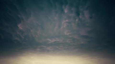 4K Massive Thunder Clouds Timelapse Animation Animation