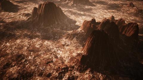 4K Red Rock Desert Cinematic Aerial 3D Animation Animation