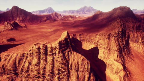 4K Red Rocks Desert Terrain Geology Cinematic 3D Animation Animation