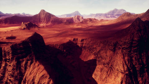 4K Red Rocks Desert Terrain Geology Cinematic 3D Animation Stock Video Footage