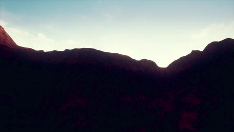 4K Rock Desert Terrain Landscape Cinematic 3D Animation Animation