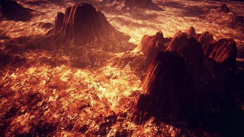 4K Rocky Arid Alien Planet Cinematic Aerial 3D Animation Animation