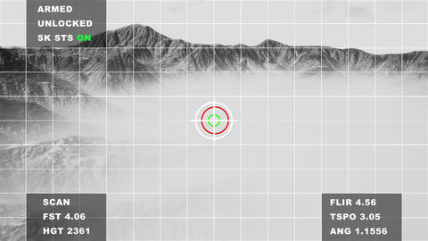 4K Military Spy Drone Display in Mountains Aerial Cinematic 3D Animation Animation