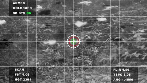 4K Military Surveillance Aerial Cinematic 3D Animation Animation