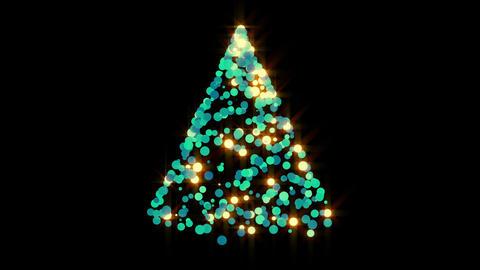 Glowing Christmas Tree Overlay Stock Video Footage