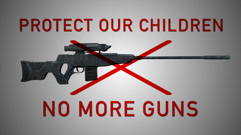 USA Gun Prohibition Protect Our Children No More Guns Animation Animation