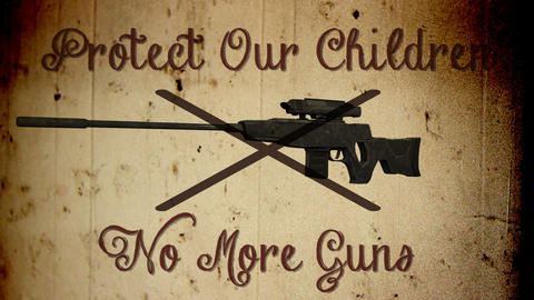 USA Gun Prohibition Protect Our Children No More Guns Vintage Animation Animation
