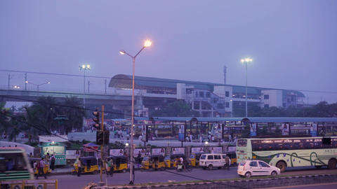 CMBT - Chennai Mofussil Bus Terminus, largest bus Terminus in Asia. And second Live Action