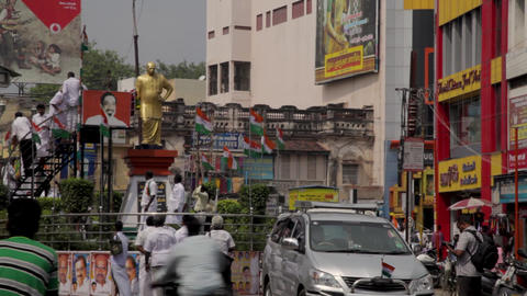 Congress workers fight over garlanding Kamaraj statue in india, political Live Action