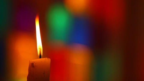 Candles in the church Stock Video Footage