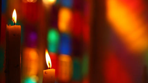 Candles in the church Footage