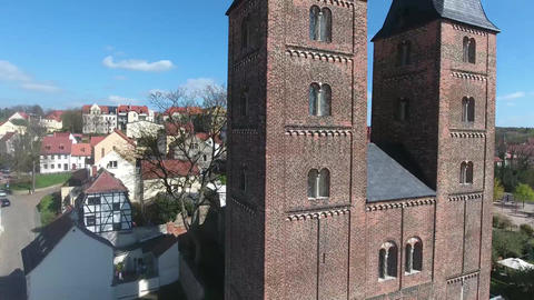 Rote Spitzen Altenburg medieval town red towers Footage