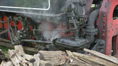 Steam Train Valve Gear Footage