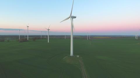 Wind turbines environmental generator power green Footage