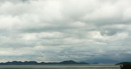 4k coastal beach coast cloud cloudscape&sparkling... Stock Video Footage