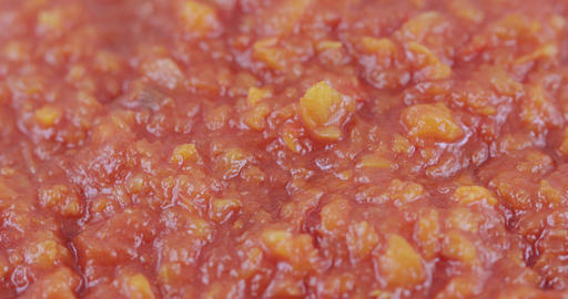 Red adjika canned bulk Footage