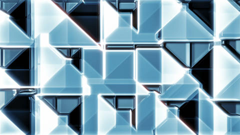 Blue Glass 3 - Tiled Blue 3D-ish Surface Video Background Loop Animation