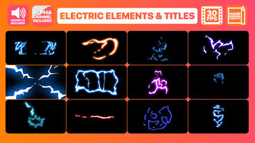 Flash FX Electric Elements Transitions And Titles Motion Graphics Template