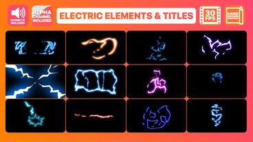 Flash FX Electric Elements Transitions And Titles モーショングラフィックステンプレート