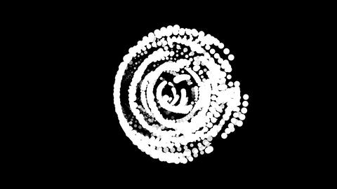 Circles gather in symbol bullseye. After it crumbles in a... Stock Video Footage
