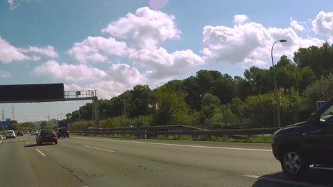 Cars Stopping on The Highway Trackign Shot Footage