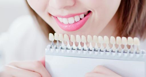 Teeth whiten concept Footage
