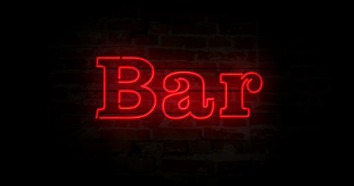 Bar neon sign Animation