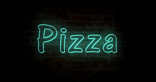 Pizza neon sign Animation