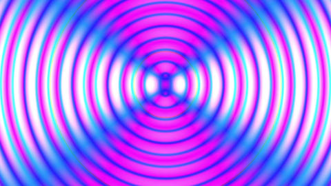 Slow Psychedelic Concentric Circles Abstract Motion Background Loop Animation