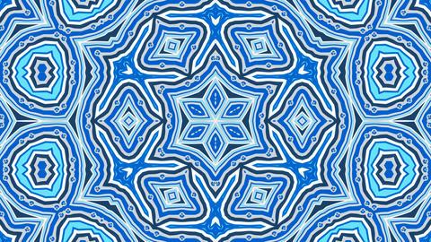 Kaleidoscope ColorFun 2 - 4k Blue Kaleidoscopic Video Background Loop Animation