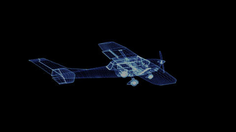 The hologram of a propeller plane Footage