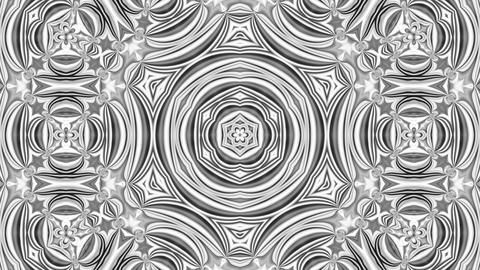 Kaleidoscope Black And White 6 - 4k Monochrome Kaleidoscopic Pattern Video Animation