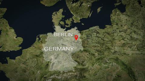 4K City Zoom: Berlin – Germany Animation
