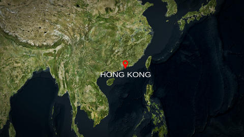 4K City Zoom: Hong Kong Animation