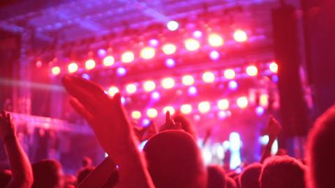 Illumination and strobe light show begins, hard party at metropolitan night club Footage
