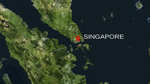 4K City Zoom: Singapore Animation