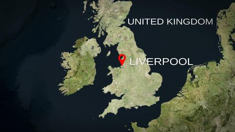 4K City Zoom: Liverpool – United Kingdom Animation