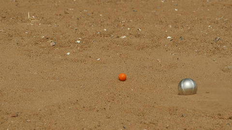steel ball game in petanque Footage