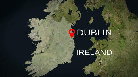 4K City Zoom: Dublin – Ireland Animation