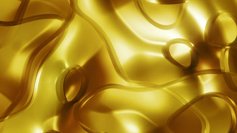 Glassy Gold Threads 3 - 4k Glamourous Pattern Video Background Loop Animation