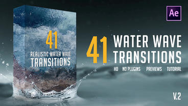 Realistic Water Wave Transitions Pack After Effectsテンプレート