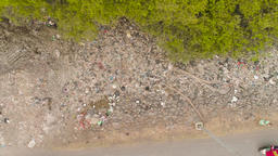 problem with garbage in asia java, indonesia Footage