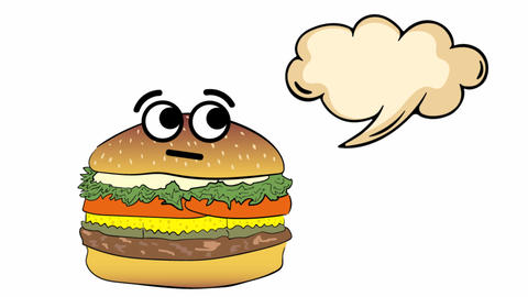 Cheeseburger thoughts in cloudlet Animation
