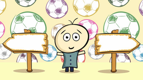 Choice and color soccerballs Animation