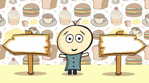 Choice and cheeseburger background Animation
